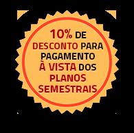 Selo 10% de desconto para pagamento à vista do plano sênior de 6 meses